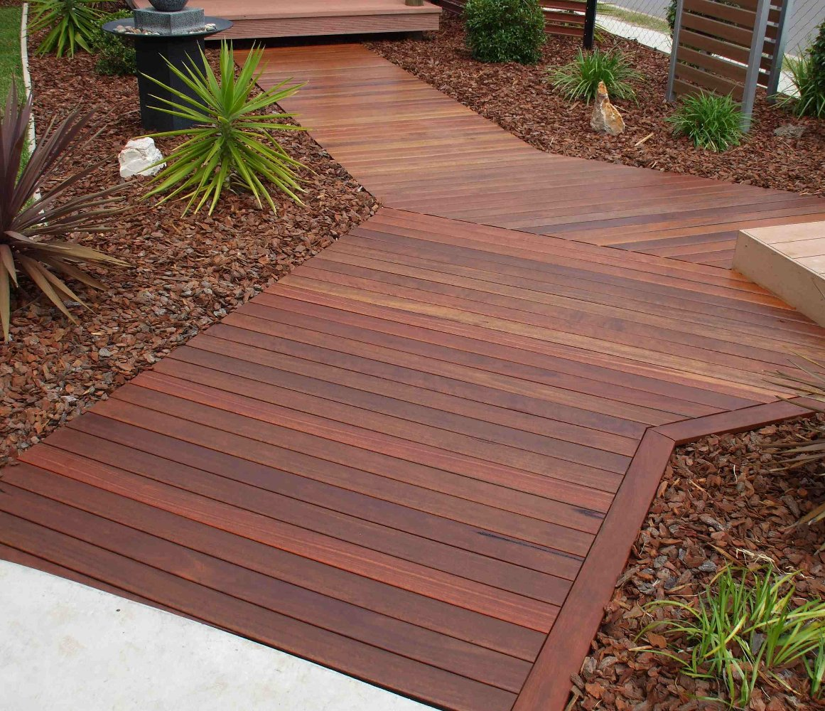 Ironbark gallery hardwood decks for Hardwood timber decking